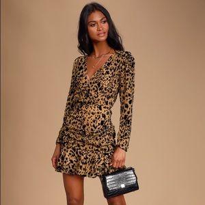 ASTR The Label Nikita Leopard Mini Dress